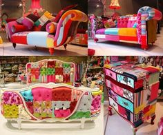 colorful armchairs