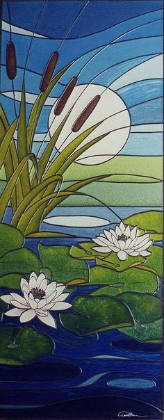 Morning Light by Claire Fairweather. Stained Glass Quilt, Stained Glass Flowers, Faux Stained Glass, Stained Glass Designs, Stained Glass Panels, Stained Glass Projects, Stained Glass Patterns, Glass Painting Patterns, Glass Painting Designs