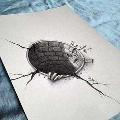 Exacting Draw A Monster Ideas – Drawing Ideas 3d Pencil Drawings, 3d Art Drawing, Dark Art Drawings, Realistic Drawings, Art Drawings Sketches, Love Drawings, Illusion Drawings, Illusion Art, Drawing Techniques