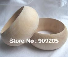 Top moda pulseras de madera sin terminar / DIY pulsera de madera ancho / joyería de madera 15 unids/lote SMT-120J(China (Mainland))