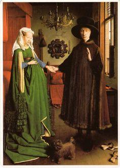 """Coniugi Arnolfini"" da Jan Van Eyck- 1434"