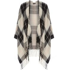 Dorothy Perkins Blush and Black Check Cape (£28) ❤ liked on Polyvore featuring outerwear, jackets, women, cardigans, womens tops, pink, pink cape coat, cape coat, dorothy perkins and pink cape