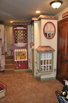 indoor+playhouses | Custom Made Euro Castle Indoor Playhouse