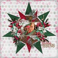 Love this quilt-look layout. Christmas Scrapbook Layouts, Scrapbook Page Layouts, Scrapbook Paper Crafts, Scrapbook Supplies, Scrapbook Cards, Christmas Layout, Scrapbook Designs, Creative Memories, Christmas Crafts