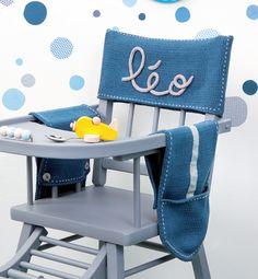 Modèle housse de chaise bébé 50% laine - Modèles Layette - Phildar