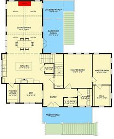 Spacious 4 Bedroom House Plan With Elevator And Main Floor Master 765005twn Floor Plan Main Level 4 Bedroom House Plans Bedroom House Plans House Plans