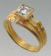 """""""August Ring""""  18kt gold and diamonds. Can I have this for my birthday?! I mean I was born in August lol"""