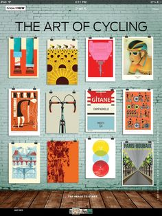 """This July issue of Bicycling Magazine has our Sunflower Tour de France poster in it featured in the Art of Cycling"""" page. Check out where to get the other posters here too!"""