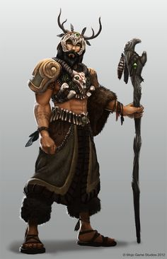 m Druid Lt Armor Staff Should the Shaman be a class of it's own? d&d Dungeons And Dragons Fantasy Male, Fantasy Warrior, Fantasy Rpg, Medieval Fantasy, Samurai, Dnd Characters, Fantasy Characters, Character Concept, Character Art