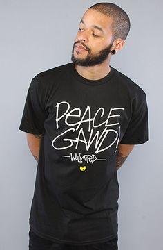 The Peace Gawd Tee in Black