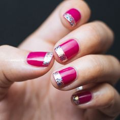 Tip top french nail art.