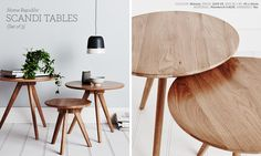 Adairs Home Republic Scandi Tables (set of 3)