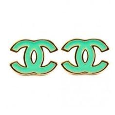 Turq.  Chanel earrings