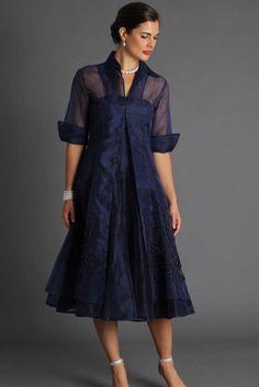 Organza Coat - Midnight Blue