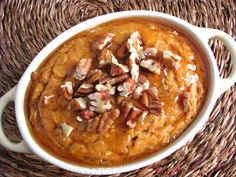 baked sweet potato oatmeal for one