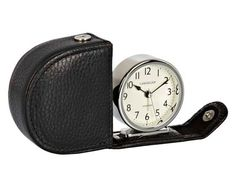 Buy Lascelles Travel Alarm Clock in a Leather Case, Black from our Clocks range at John Lewis & Partners. Travel Alarm Clock, Alarm Clocks, Best Alarm, Comfy Bed, Desk Clock, Cool Beds, Tech Gadgets, Leather Case, Chrome