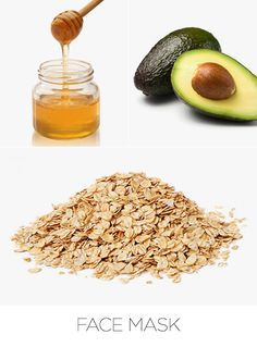 Face Mask---Dull winter skin got you down? Try a hydrating face mask with oats to enhance texture and relieve irritated skin. Naturally high in antioxidants, honey and avocado will help retain moisture to leave skin soft and supple.