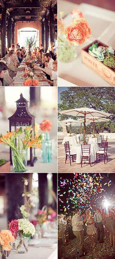barn wedding with amazing tables