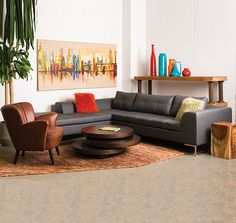 SULLA SECTIONAL - Gray