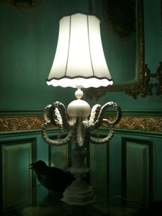 The work of Adam Wallacavage. I want this lamp Octopus Lamp, Release The Kraken, Corner Lamp, Beach Cottage Style, Artist Life, Tentacle, Coastal Living, Modern Decor, Accent Decor