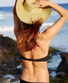 Holly Crochet Pushup Bikini Top, Women's, True Black