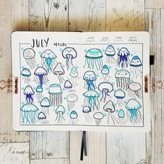 Need inspo for your next mood tracker? Here are 50 cool bullet journal mood tracker ideas you have to try! Bullet Journal Tracker, Bullet Journal Ideas Pages, Bullet Journal Spread, Bullet Journal Inspiration, Bullet Journals, Journal Aesthetic, Sketch Notes, Doodles, Instagram