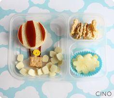 hot air balloon bento sandwich lunch