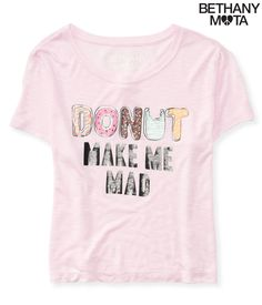 Donut Crop Graphic T - Aeropostale, Bethany Mota Collection