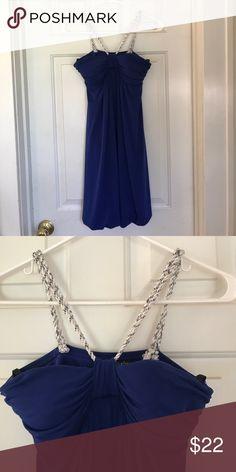 Cute mini dress Purplish blue with sequin-accented straps City Triangles Dresses Mini