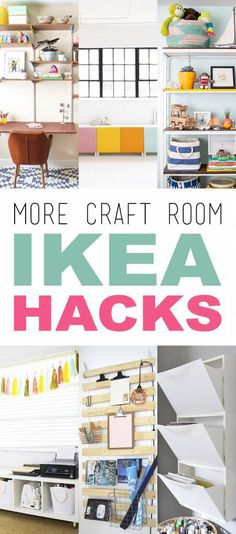 Sweet! Another great round up of Ikea hacks for your craft room. I see quite a few that will work for my new studio. I especially love that slatted bed base, turned wall storage unit! If you'…