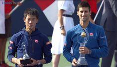 Kei Nishikori et Novak Djokovic, finale Rodgers Cup 2016