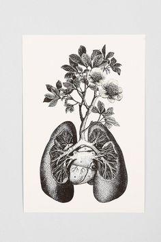 Cirque D'Art Lungs Art Print #urbanoutfitters