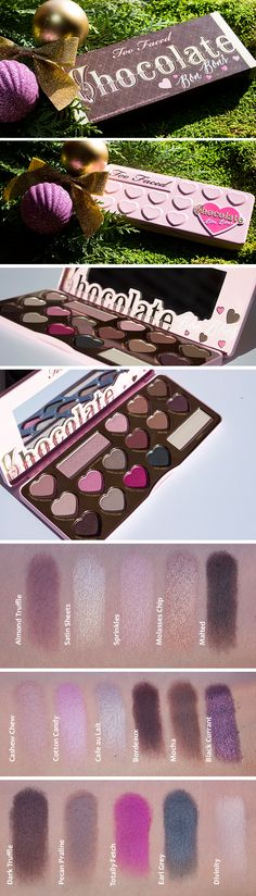 Too Faced Chocolate Bon Bons review with lots of photos and swatches.