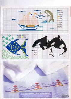 Gallery.ru / Фото #128 - RAKAM - KIM-2 Cross Stitch Sea, Cross Stitch Animals, Cross Stitch Charts, Cross Stitch Embroidery, Cross Stitch Patterns, Charts And Graphs, Bargello, Rug Hooking, Craft Patterns
