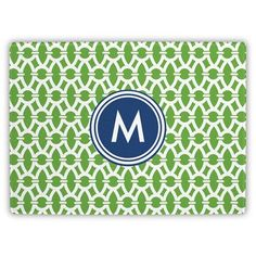 Whitney English Trellis Single Initial Cutting Board Letter: S