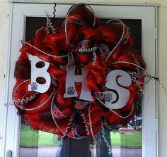 Deluxe School Spirit Wreath by WreathsbyAngela on Etsy, $90.00