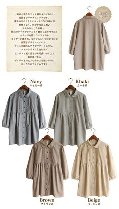 Rakuten: Entering dot pattern tuck  gathers seven minutes sleeve shirt tunic ● 88- Shopping Japanese products from Japan