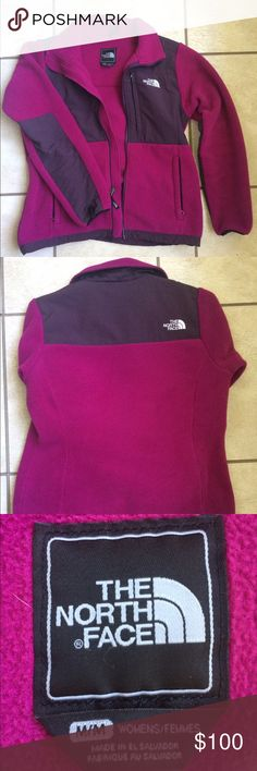 Medium Pink North Face I'm not too fond of the color on me, but it is in perfect condition!! Pinkish-purple color. Ask any questions please! The North Face Jackets & Coats