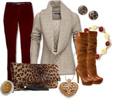 """""""cozy'n up to the animal prints"""" by jigsawtooth ❤ liked on Polyvore"""