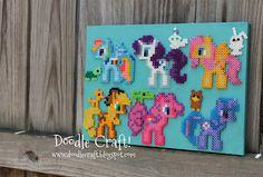 MAR & MICHELE!!!!   Doodle Craft...: My Little Pony Perler Bead Art!