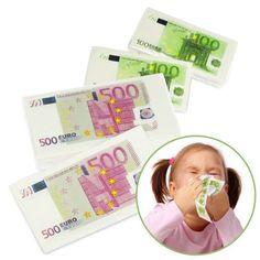Geld Taschentücher