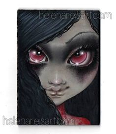 """""""Bloody Mary"""" by Helena Reis  Auction: https://www.facebook.com/TheRabbitHoleArtistCollective/photos/a.1578251152391710.1073741885.1429942497222577/1578253175724841/?type=3&theater  Facebook Page: https://www.facebook.com/pages/Helena-Reis-Paper-Dreams/110576499066543"""