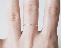 Silver stacking rings Skinny silver rings Dainty silver
