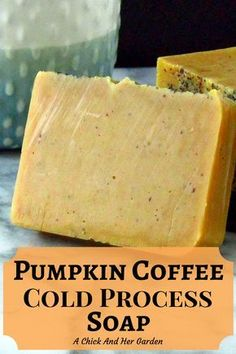 Who doesn't love Pumpkin Coffee? Now you can enjoy it in the shower as well! Check out all the benefits for this warm exfoliating soap! Soap Making Kits, Soap Making Supplies, Diy Beauté, Coffee Soap, Coffee Scrub, Savon Soap, Exfoliating Soap, Homemade Soap Recipes, Cold Press Soap Recipes