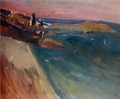 Artist: David Bomberg Title: St Ives Category: Oil on canvas Materials: Oil Paint Size: 25 x 30 inches 63.5 x 76.2 cm
