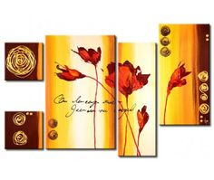 Tableau décoration Les fleurs rouges