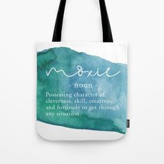 Moxie Definition - Blue Watercolor Tote Bag