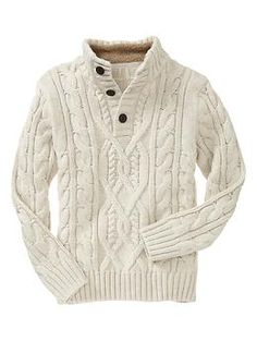 Cable mockneck pullover | Gap    Love these sweaters!!