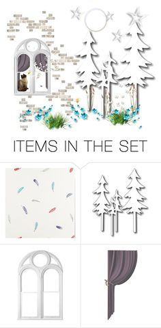 """The cat, the bee and the butterfly's"" by colonae ❤ liked on Polyvore featuring art"