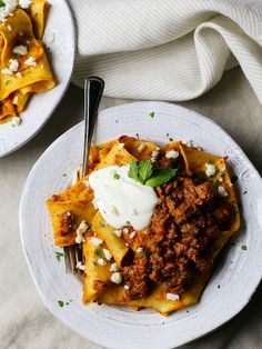 pappardelle with za'atar lamb ragu and yogurt ricotta http://www.fortheloveoflasagna.com/pappardelle-with-zaatar-lamb-ragu/